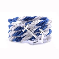 AlumniCrew Blue/White Are you ready to rock your school colors in authentic Alumni Crew Style? The Joseph Nogucci Alumni Crew Bracelet Collection has brought the ancient symbolism of nautical exploration and turned it into a fashion statement that says a lot about the adventurer in you and is designed to make a splash by letting you flaunt your school spirit. - See more at: http://www.josephnogucci.com/products/alumnicrew-blue-gold#sthash.3VjePkBK.dpuf