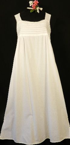449 Women's Lace Bodice-sleeveless, cotton gown