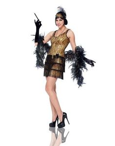 Gold Flapper Adult Womens Costume