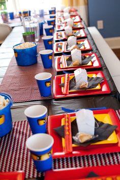 Ninjago themed birthday party with Lots of Really Fun Ideas via Kara's Party Ideas Kara's Party Ideas | Cake, decor, cupcakes, games and more! KarasPartyIdeas.com #ninjaparty #ninjagoparty #legoparty #legopartyideas #ninjago #boyparty #partyideas (51)
