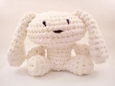 DIY huge BUNEE tshirt yarn Crochet PATTERN bunny by WorldofKismomo, $6.00