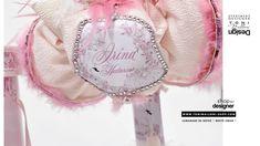 Lumanare de botez cu lebada de plus si pene roz si albe, Lebada alba Swansea, Design, Cots, Crystal
