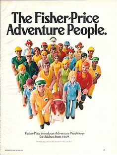 Fisher-Price Adventure People 1976, via Flickr.
