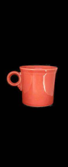 Home Laughlin Fiesta Fiestaware Persimmon Mug by Midcenturymugs
