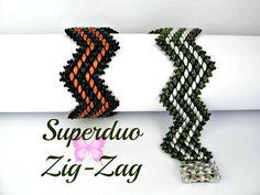 Tutorial Superduo zig zag Bracelet Pattern to make a Super Duo