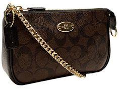 Coach Signature PVC Large Wristlet 64234 Brown/Black - http://bags.bloggor.org/coach-signature-pvc-large-wristlet-64234-brownblack/
