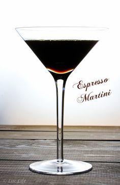 Espresso Martini with Homemade Coffee Liquor #CocktailDay #martini @livlifetoo
