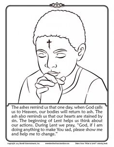 Ash Wednesday Coloring Pages | COLORING PAGES FOR FREE | Pinterest ...