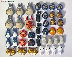 Studio Ghibli inspired Charms by Ideationox.deviantart.com on @deviantART
