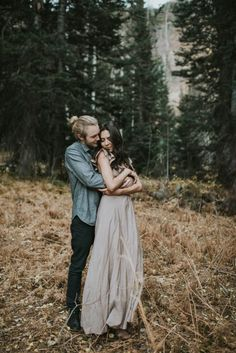 This Salt Lake City Engagement is Like a Folksy Forest Fairy Tale