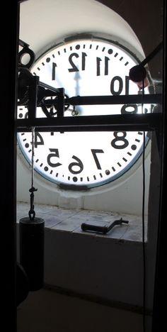 Inside of the town clock in Arpino, Ciociaria, Italy