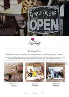 Open Shop, Curated Gift Boxes, Get Directions, All Brands, Babyshower, Poppy, Wordpress, Web Design, Woman