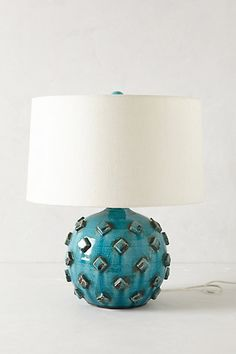 Such a sucker for this turquoise lamp. Honestly, what a color. Azzurra Lamp Ensemble #Anthropologie #PinToWin