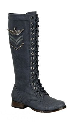 combat boots in blue!