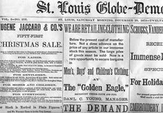 The St. Louis Globe-Democrat (informally referred to as The Globe) was originally a daily print newspaper based in St. Louis, Missouri from 1852 until 1986