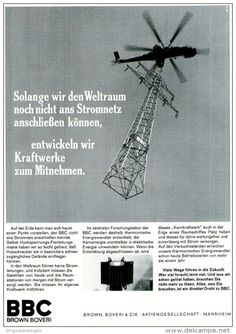 Original-Werbung/ Anzeige 1969 - KRAFTWERKE - BBC BROWN BOVERI - ca. 180 x 240 mm