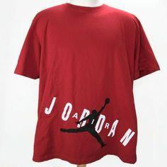182c6b17ad6 Details about Nike Jordan Jumpman T-Shirt Mens XXL 2XL Spell Out Red  Basketball Short Sleeve