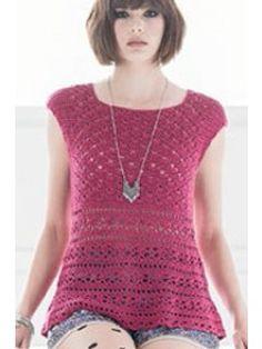 Petal Top designed by Natasha Robarge. | InterweaveStore.com