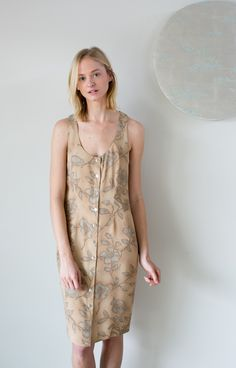 The Willa Dress - Tan Floral