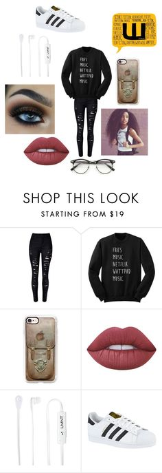 """""""Nerds Are Cool 🖤🤓"""" by jazel117 on Polyvore featuring Casetify, Lime Crime, LMNT and adidas"""