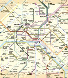 cool Paris Subway Map
