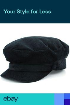 6f52a4dca21 Hat Corduroy Captains Breton Cap Beatles Lennon Newsboy Cadet Black Blue