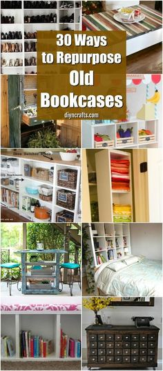 30 Genius Ideas for Repurposing Old Bookcases Into Exciting New Things via @vanessacrafting