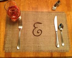 Burlap Placemats  set of 6 by CreativePlaces on Etsy, $20.00