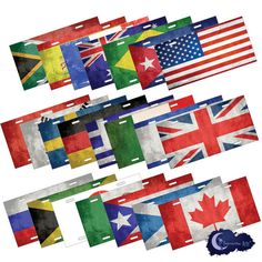 Flags of the World License Plates by InsomniacArts.com