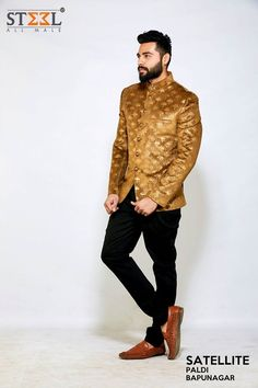 Get noticed even in the crowd with this exclusively designed jodhpuri suit. Rush to Steel All Male showroom and own this fashionable outfit TODAY! #Menswear #Style #ShopThisLook #Jodhpuri #FashionBlogger #SteelAllMale #Ahmedabad #Satellite