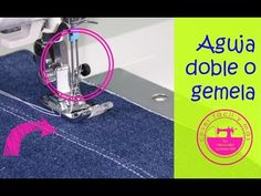 Cómo coser con una aguja doble o gemela y para qué sirve - YouTube Sewing Hacks, Sewing Crafts, Sewing Projects, Diy Crafts, Sewing Tips, Costura Industrial, Couture, Vintage Sewing, Embroidery