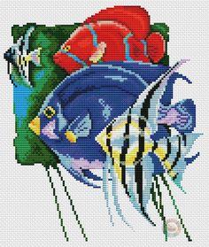 Cross Stitch Sea, Cross Stitch Pillow, Cross Stitch Animals, Cross Stitching, Cross Stitch Embroidery, Cross Stitch Patterns, Rainy Day Crafts, Chart Design, Alpha Patterns
