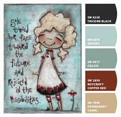 """""""FAce the Future"""" chipped! ©dianeduda/dudadaze Paint colors from Chip It! by Sherwin-Williams"""