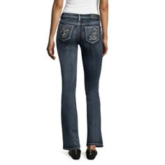 Love Indigo Angel Wing Embellished Back Flap Pocket Bootcut Jean at JCPenney