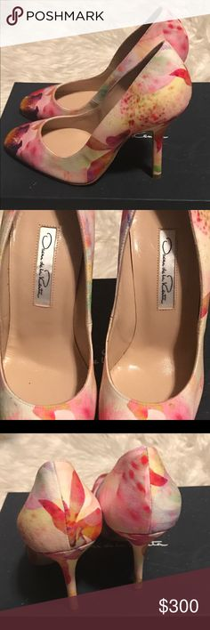 Oscar de la a Renta Woman's heel Gorgeous pump by Oscar de la Renta.  Woman's Euro SIZE 34 1/2.   Perfect for Spring. This is your chance to get a great deal, on a stunning pair of heels, brand new with box. Oscar de la Renta Shoes Heels