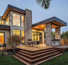 Rustic Modern Home Design never go out of types. Rustic Modern Home Design is usually ornamented in many approaches each home furniture decided on declare a Design Exterior, Modern Exterior, Modern Garage, Facade Design, Rustic Exterior, Stone Exterior Houses, Garage Exterior, Exterior Stairs, Modern Craftsman