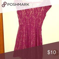 Dress Purple lace Dresses Midi