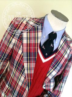Vintage Men's McGregor Madras Sport Coat Jacket  by bwoodnought, $75.00