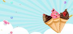 Summer Background Images, Cartoon Background, Background Banner, Ice Cream Pictures, Ice Cream Images, Black And White Sketches, Black And White Posters, Ice Cream Background, Ice Cream Cartoon
