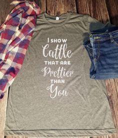 Show Cattle Shirt Cow Shirt Steer Shirt Bull Shirt FFA