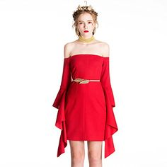 YIGELILA Sexy Women Red Off Shoulder Long Trumpet Sleeve ... http://www.amazon.com/dp/B01CE7SKN0/ref=cm_sw_r_pi_dp_b6Xjxb0RYMC56
