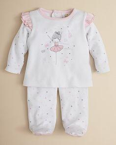 Absorba Infant Girls' Ballerina Shirt & Footie Set – Sizes 0-9 Months - Girl - Newborn (0-9 months) - BABY - Kids - Bloomingdale's
