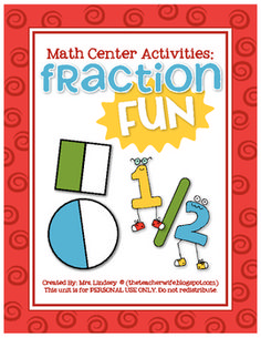 This 58 page packet is full of BEGINNER Fraction FUN! All the activities in this unit can be used for centers or whole group instruction. {Fraction...