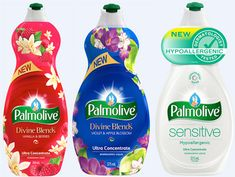 A sweet treat for your senses, Palmolive Ultra Divine Blends is available in two complex and multi-layered fragrances, including; Violet & Apple Blossom and Vanilla & Berries. Cleaning Hacks, Cleaning Supplies, Detergent Bottles, Homemade Laundry Detergent, Dishwashing Liquid, Good Housekeeping, Bottle Design, Tide Coupons, Packaging Design