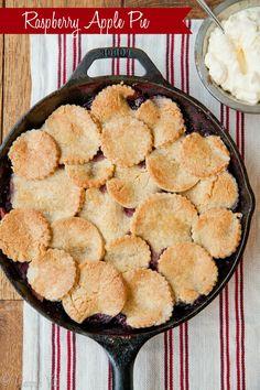 Apple Raspberry Pie | DeliciouslyOrganic.net #grainfree #paleo