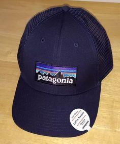 26b68a88587 NWT Patagonia Mens P-6 LoPro Trucker Snapback Hat 38016 Navy Low Crown   fashion