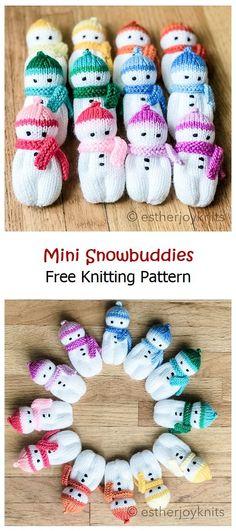 Mini Snowbuddies Free Knitting Pattern – Knitting Projects Knitting Patterns Free, Free Knitting, Snowman, Toys, Mini, Toy, Games, Snowmen, Beanie Boos