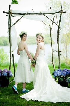 wedding arch with potted plants - Google Search