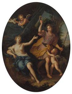 Venus and Adonis, 1688 for the Trianon at Versailles by Louis de Boullogne le Jeune