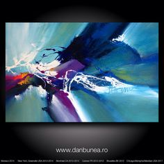 "Large abstract painting by Dan Bunea: ""Summertime"", 80x120cm on Etsy, 700,00 $"